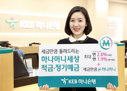 KEB하나은행, '하나머니세상 적금·정기예금' 특판